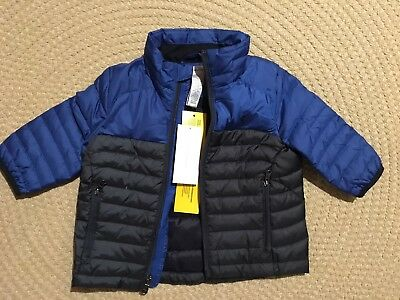 Polo Ralph Lauren Blue Pony Quilted Down Puffer Coat Jacket , Boys 9 Months, NEW