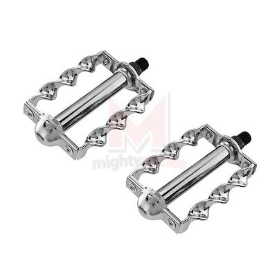 """Lowrider Bike Flat Twisted Pedals BLACK 1//2/"""" Chopper Cruiser Bicycle Show Part"""