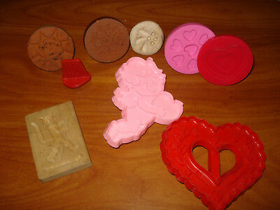 Vtg. Lot Of Mixed Cookie Stamp Molds Rycraft, Plastic Wooden, Handmade