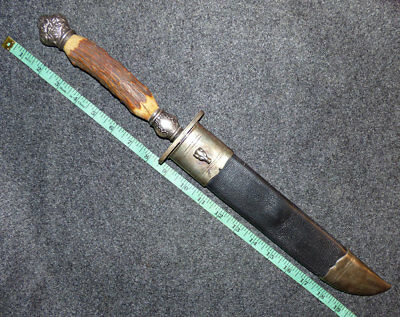 BIG Original 1893 Buffalo Bills WW Presentation Bowie Knife Columbian Exposition