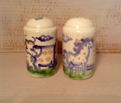 MA Hadley Salt/Pepper Shaker Set Collectable Pottery