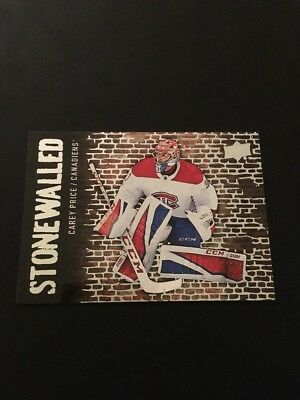2018-19 Upper Deck Stonewalled Carey Price Canadiens! SW-27