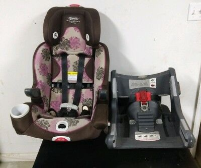 Graco All In 1 Convertible Car Smart Seat Little Girls Removable Cover