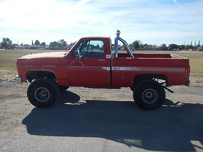 1977 Chevrolet C/K Pickup 1500 Short Bed 4x4 1977 CHEVY 4X4 SHORT BED WEST TEXAS BARN FIND NICE PATINA 350 AUTO 1978 1979