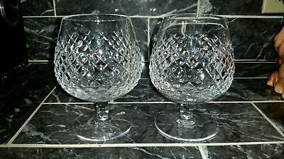 Vintage Waterford Crystal Alana Brandy glass pair Made in Ireland