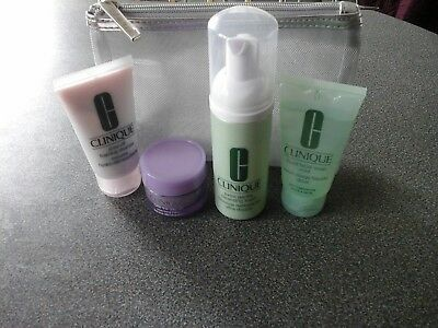Clinique Cleansers + Bag -Cleansing Balm -Cleansing Foam -Facial Soap-Foaming Cl