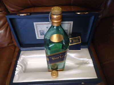 Johnnie Walker Blue Label Box Case And Empty 1.75 L Bottle