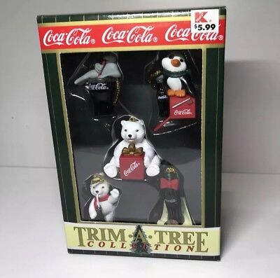 BRAND NEW COCA COLA mini CHRISTMAS ORNAMENTS Trim-A-Tree COLLECTION Vintage