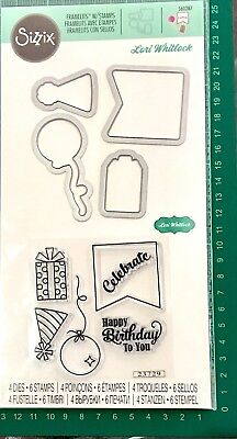 Sizzix Framelits Stamp And Die Set ~Happy Birthday To You Code 560287