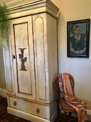 Beautiful Vintage French Armoire / Wardrobe