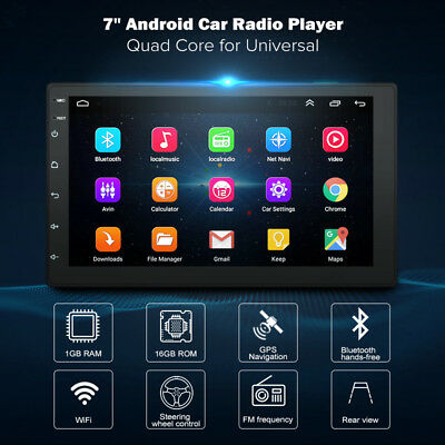 1X(7 inch Android8.1 2 Din Car DVD radio Multimedia Player GPS navigation U C1F6
