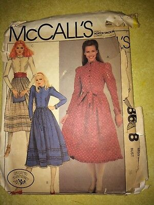 Vintage Laura Ashley McCall's Pattern 8668 Dress - Uncut