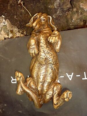 Rare cold cast  Bronze EXLG Dachshund Sculpture STATUE Figure Art  Dog Recast