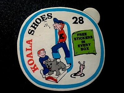 Vintage Australian Made  Koala Sohes Advertising Sticker Ephemera Boys