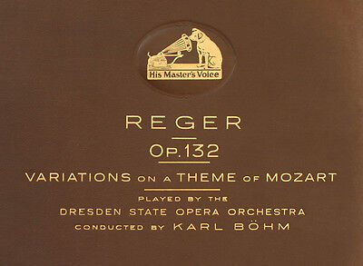 DRESDEN STATE OPERA ORCH. & B%HM  Reger: Variations on a Theme of Mozart   A322