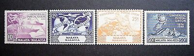 Malaya Malacca - 1949 UPU Set, MLM .... Great Set, Good Value