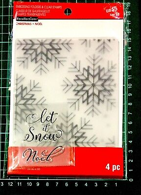 Recollections Stamp & Emboss Set ~Christmas Noel Let It Snow Code 565260