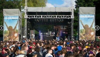 Mobile Truss Modular Festival Stage 8m X 6m Or 11m X 11m Penn Winch System Roof