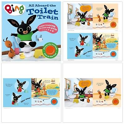 Potty Training Board Book Bing All Aboard the Toilet Train Baby Kids Music Aid