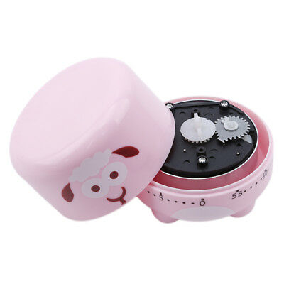 60 Minute Sheep Pattern Counting Kitchen Alarm Clock Timer Mechanical Z