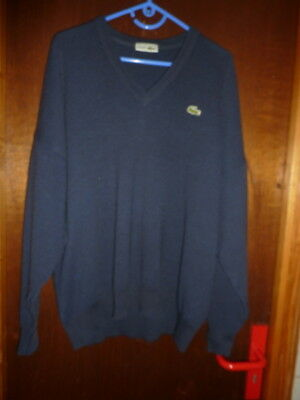 Taille Cardigan Homme Eur Encolure Bleu 2xl 7 Pull Xxl Lacoste V TqwPP