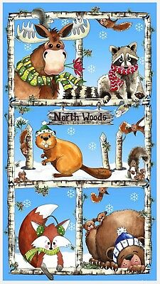 Northwoods Neighbour Quilt Panel * New *  Free Post * Super Cute *