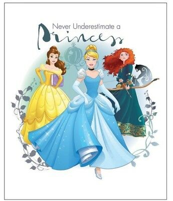 Disney Never Underestimate A Princess * Quilt Panel * New * Free Post * Pretty *