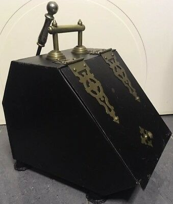 Antique Coal Box. Lovely Detailed & Shaped Item