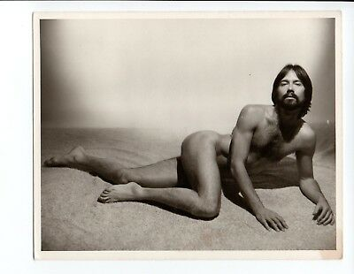 Prone Male Nude, 1970's Physique Photography, Original Studio 4x5, Gay Interest