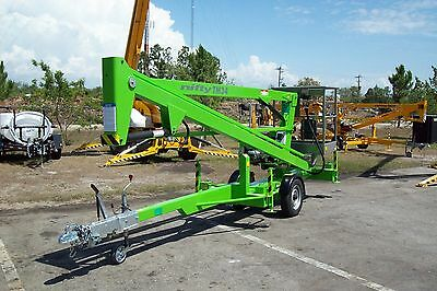 Nifty TM34M 40 Ft Towable Boom Lift,Honda Power,Fits Thru a 4' Gate,In Stock