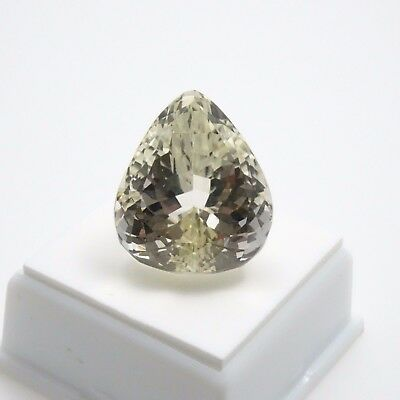 Canary Kunzite - 49.15ct - Pear Shape - 21x24mm - Kunzite Loose Gemstone