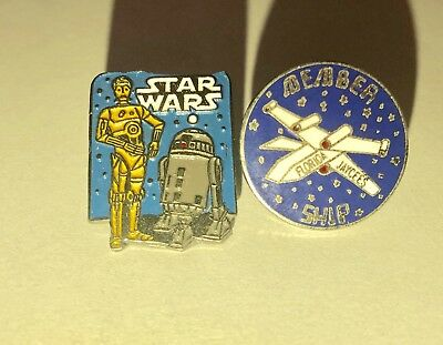 Star Wars Buttons C-3PO & R2-D2 & X-Wing Florida Jaycees Member