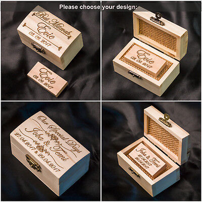 Wooden USB 2 USB3.0 Stick 8GB-128GB Personalised Engraved+Box Wedding Pen DRIVE