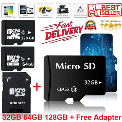 32GB 64GB 128GB Ultra Micro SD TF Karte Card Speicherkarte Class10 Flash +Adapte