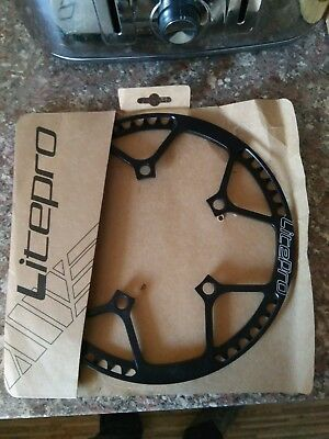 58 tooth Chainring with Chainguard for Brompton Folding Bike Road bicycle BCD130