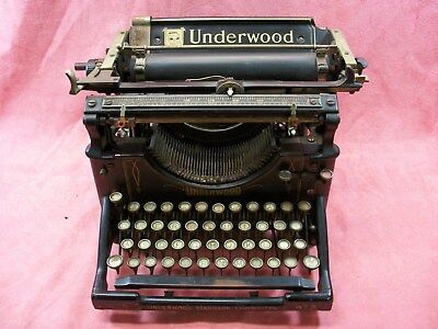 Vintage Underwood Standard NO.5 Typewriter SN # 5286235
