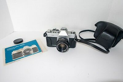 Mamiya Sekor 500TL Vintage 35mm SLR Camera & 50mm f2 M42 Lens, flash shoe & case