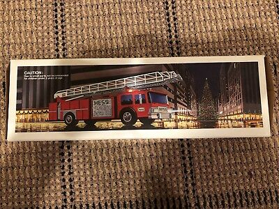 1986 Hess Toy Fire Truck Bank - New In Box