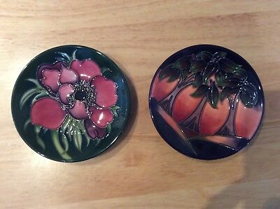 Two Moorcroft Pottery Pin Dishes