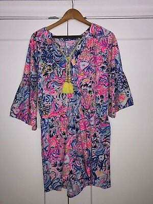 8a8410ac472 Lilly Pulitzer Del Lago Romper M Multi So Sofishticated Colorful NWT Free  Ship