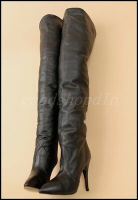 Sexy Womens Leather Over Knee Thigh Boots Stilettos High Heel Nightclub Shoes