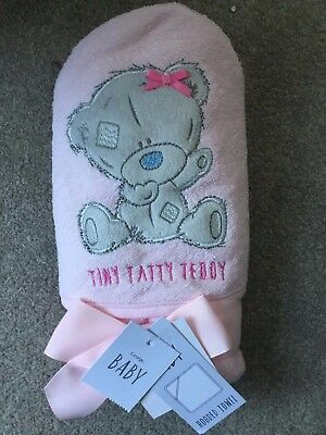 Tiny Tatty Teddy hooded towel. Pink . BNWT
