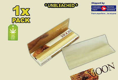 1 Pack - Moon Pure Hemp Unbleached Rolling Papers -