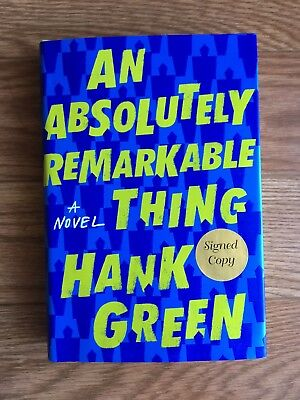 "SIGNED 1ST ED ""An Absolutely Remarkable Thing"" by Hank Green - Free Shipping!"