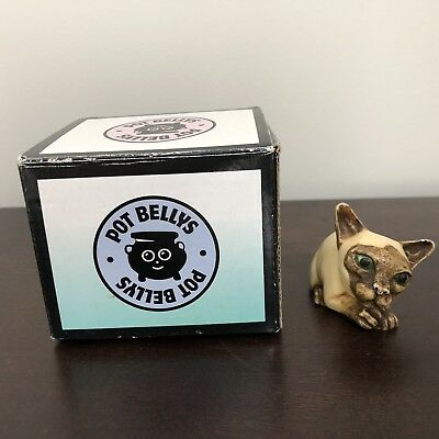 Pot Bellys Lil Mousers Stymie Siamese Cat Figure Figurine Trinket with Box 2003