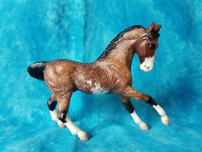 Custom CM Etched Bay Pinto G2 Warmblood Breyer Stablemate