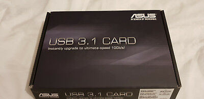 ASUS-USB 3.1, 2-Port Card, TYPE A bis 10GB/s,  USB-Adapter  PCI Express x4