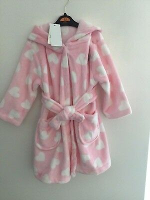Girls pink heart dressing gown 2-3 years. BNWT