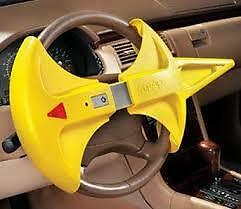 The WRAP Steering Wheel Lock & Airbag Cover Anti-Theft LED Lites & Loud Alarm