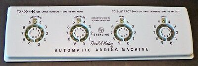 Vintage Sterling #565 Dial-A-Matic Automatic Adding Machine
